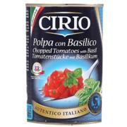 시리오 조각 토마토와 바질